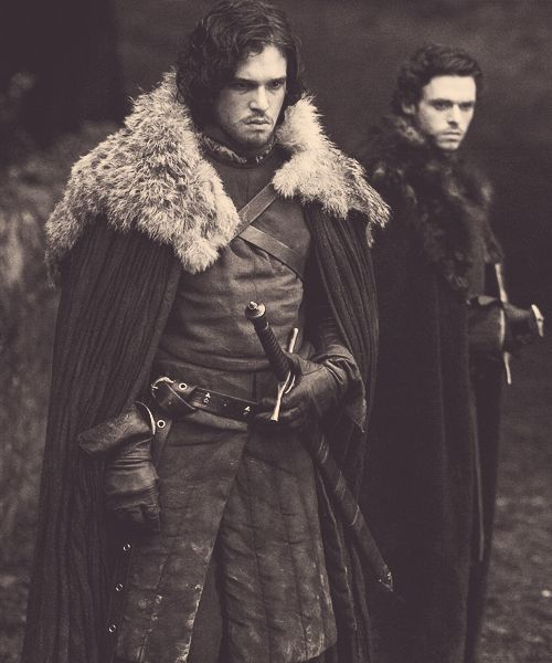 Jon Snow & Robb Stark Kit Harrington and Richard Madden in Game of Thrones, season 1