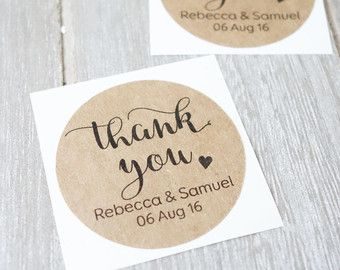Personalised Thank You Stickers