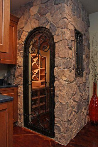 King Ranch - mediterranean - wine cellar - sacramento - by Landmark Builders