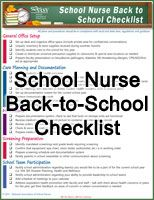 School Nurse Back-to-School Checklist and additional resources