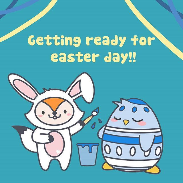 Getting ready for easter day!!! #pikithepenguin #Piki #fixi #fox #food #easterday #pascua #huevos #painting #rabbit #cute #funny #art #style #molang #chocolate #lovechocolate #instagram #instagood #vector #drawing #paint #colors #animals #kakaofriends #custom #picoftheday #love #fun #cool