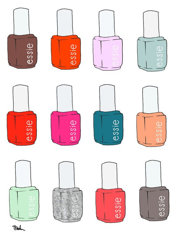 Nailed it Essie illustration
