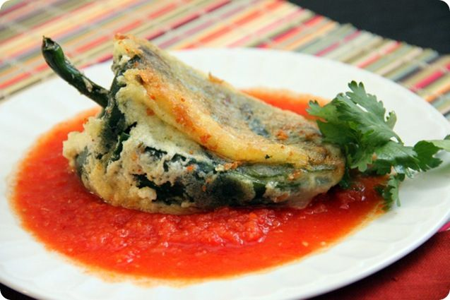 Chile rellenos. I've heard that they are a big pain to make, but SO ...