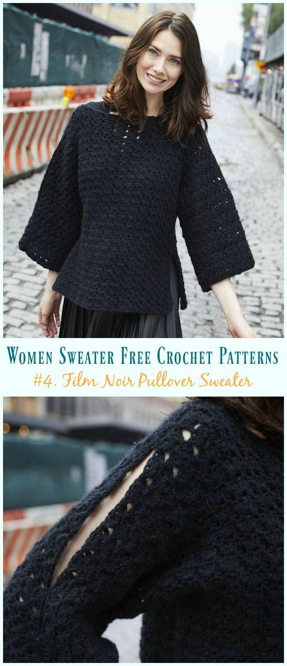 Film Noir Pullover Sweater Crochet Free Pattern Crochet And
