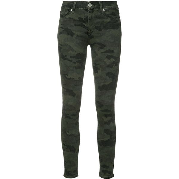 Hudson Nico Skinny Jeans (€175) ❤ liked on Polyvore featuring jeans, hudson jeans, grey jeans, gray skinny jeans, skinny fit jeans and camouflage jeans