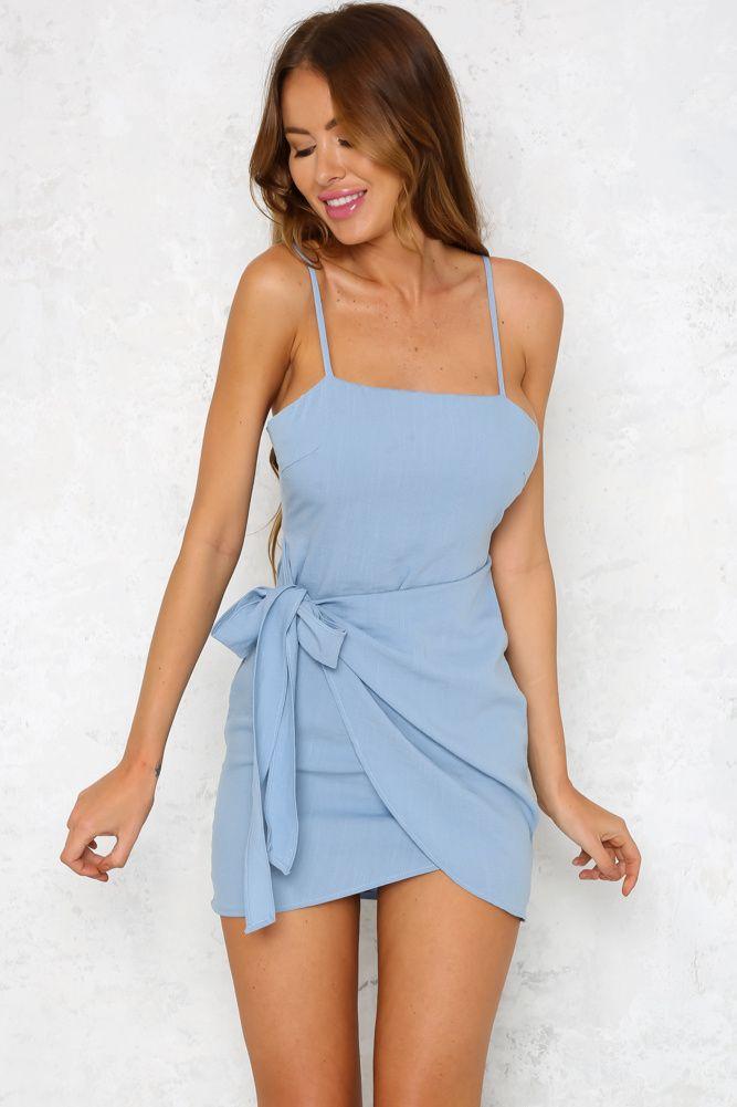 No Diggity Dress Sky Blue