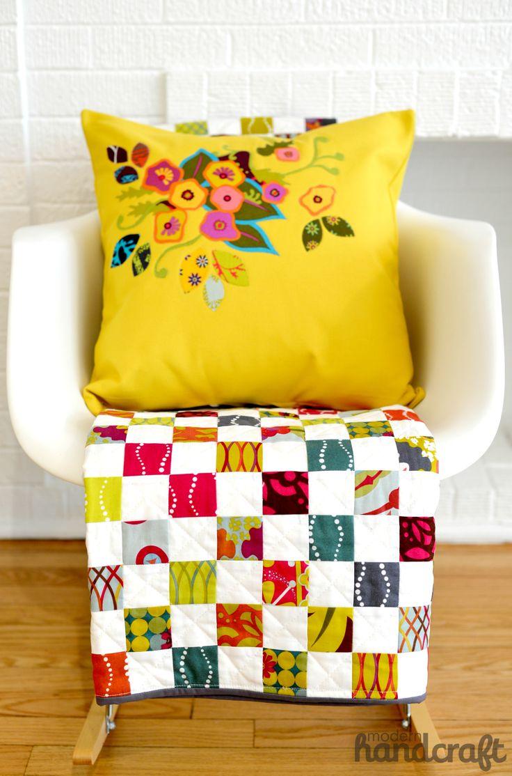 Modern Handcraft // Floral Applique Pillow: A tutorial craft, quilts, sewing tutorials + tips ...