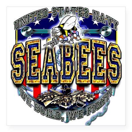 US Navy Seabees Shield Sticker on CafePress.com
