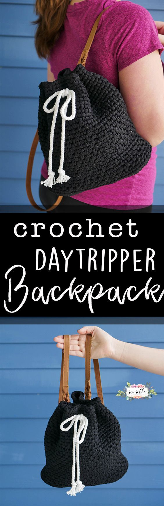 Make this crochet Daytripper Backpack - the perfect easy beginner backpack pattern for moms on the go!