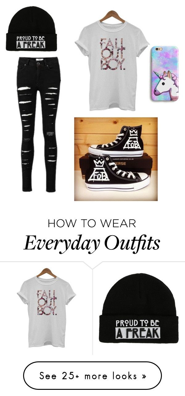 """everyday outfit"" by couldyounottt on Polyvore featuring Converse"