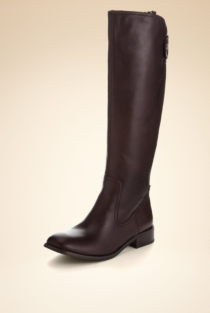 Autograph Leather Knee High Cavalier Boots [T02-1848-S] : Boots