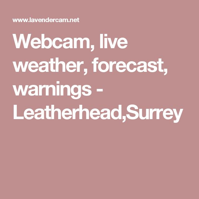 Webcam, live weather, forecast, warnings - Leatherhead,Surrey