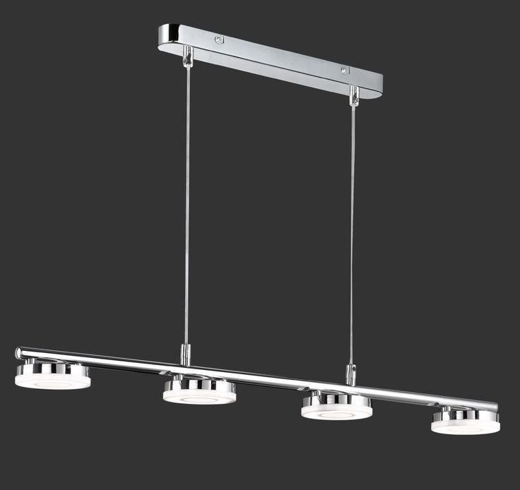 Lampara colgante Rennes LED 4 luces cromo de Trio lighting