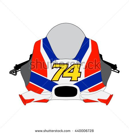 Front View Motor Bike Icon / Motorcycle Badges / Motorcycle Racing Design