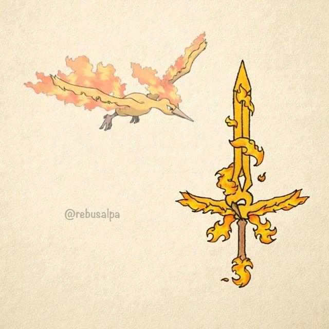 Moltres's spirit weapon: Able to burn a billion times hotter than flare blitz!  Conditions to wield: Must spend 20 years meditating on top of a volcano. After the 20 years, jump into that same volcano and believe that moltres will save you.