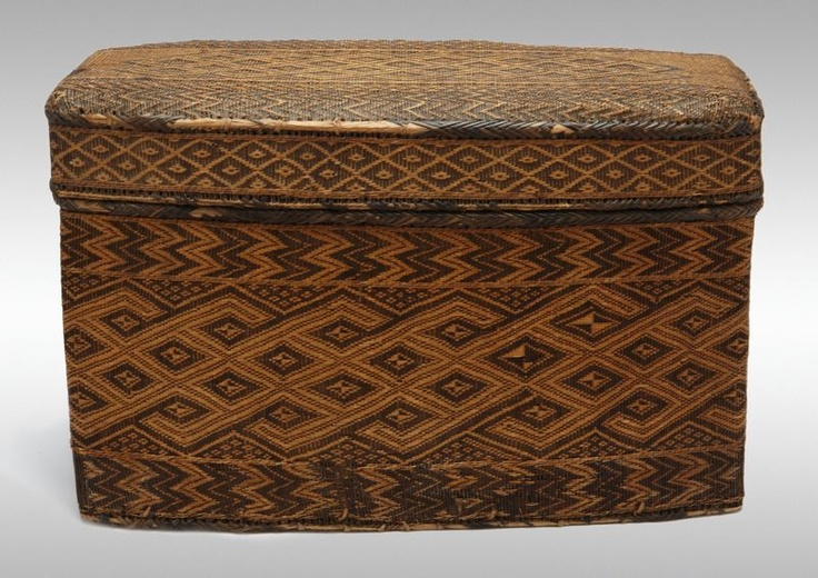 Africa | Basketry Storage Container from Angola, Democratic Republic of the Congo, or Republic of the Congo | 18th/19th century | Rattan, wood, and twine