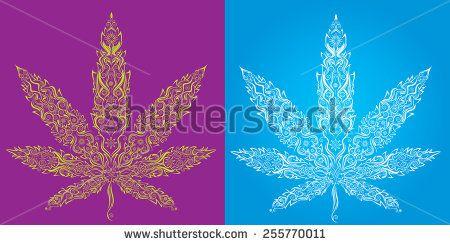 Marijuana leaf texture symbol stock vector book cover pldhc