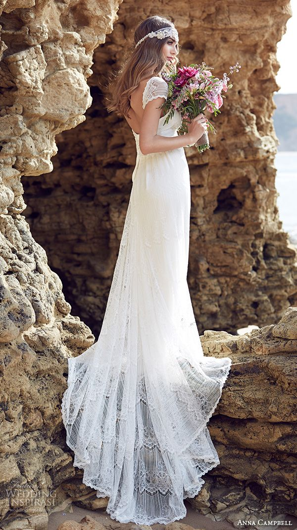 Anna Campbell #white #long #lace #beach #wedding #bridal #dress #gown #bride