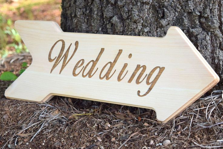 This adorable wooden arrow is the perfect additional to your wedding! Wording is customizable and can be changed to read whatever you'd like! You can hang the arrow from a tree, attach to a stake, or