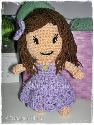 Creazioni Rita C. ... Only Handmade!: La mia Bambolina Amigurumi ... E il tutorial per realizzare la Fatina Margarita