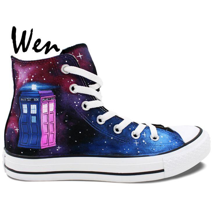 Doctor Who Tardis azul de mujer Slip On Zapatos, color azul, talla S