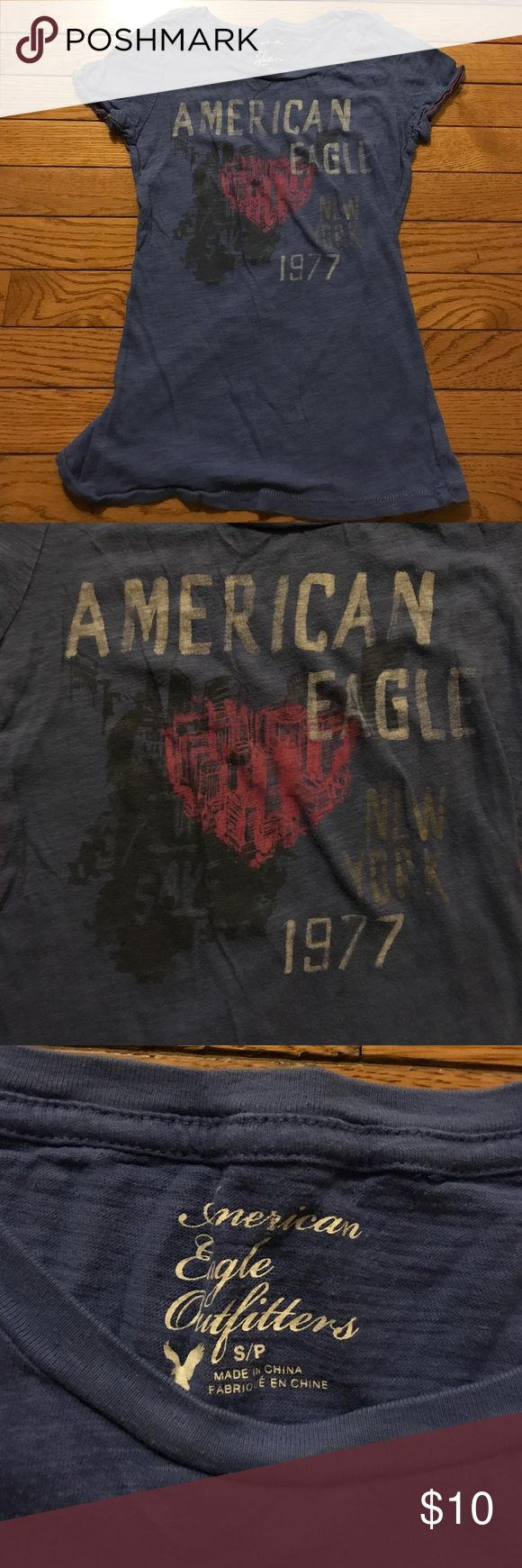 SALE! American Eagle purple graphic t-shirt Willing to Bundle👍🏻  Purple Graphic T-Shirt from American Eagle. Never worn with no flaws or stains:) Any questions ask below American Eagle Outfitters Tops Tees - Short Sleeve