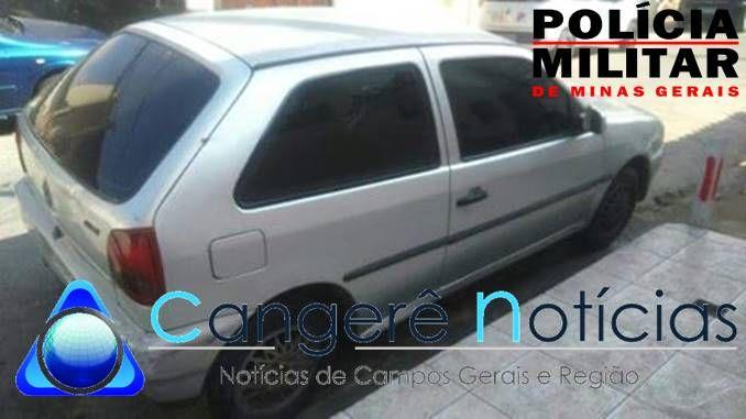 Automóvel furtado é recuperado pela Policia Militar em Campos Gerais-MG