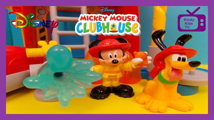 Mickey Mouse Clubhouse Toys. Funny Firehouse. Toy review and PLAY-DOH st...