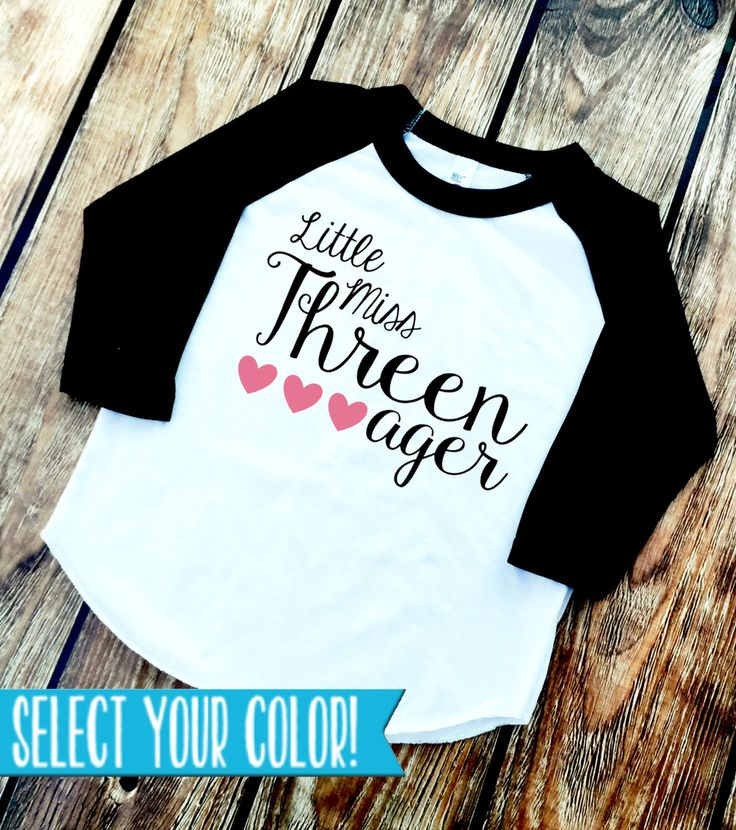 DISCOUNT Code ANNABELLE15 ❤️ can be used on all Vazzie Tees purchases! Threenager Shirt - Little Miss Threenager - 3rd Birthday Shirt - 3 Year Old - THREE - Personalized Colors - Girls' Birthday Shirts by VazzieTees on Etsy https://www.etsy.com/listing/267401676/threenager-shirt-little-miss-threenager