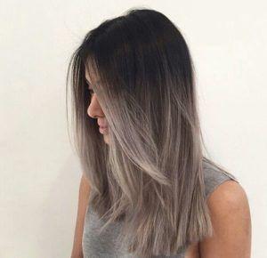 20 Chicas que te harán decir ¡Justo así quiero mi cabello! cabello gris  chic