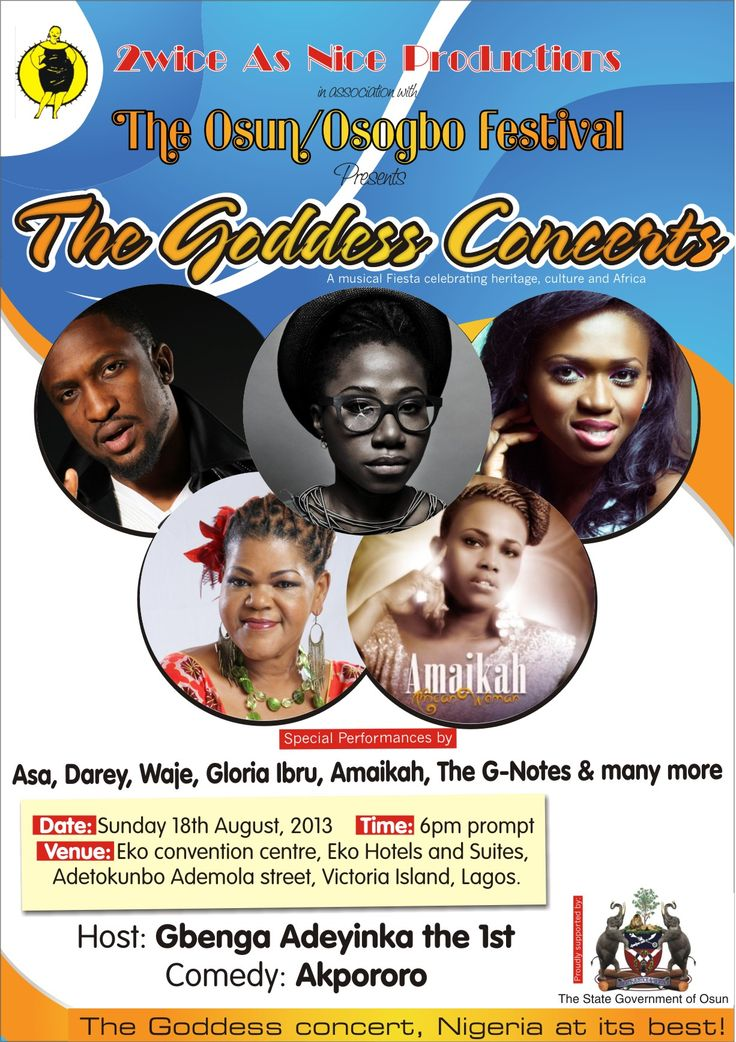 "TODAY'S EVENT: ""THE GODDESS CONCERTS"""