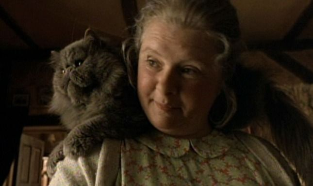 Duchess is the gray Persian cat who is the spoiled pet of Farmer Hoggett's wife, Esme (Magda Szubanski) in Babe (1995).