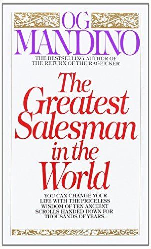 "The Greatest Salesman in the World book on Amazon - ""The Greatest Salesman in the World"" by Og Mandino is a book that reveals the principles that make up effective salesmanship, so you can succeed in the world's marketplace. http://www.amazon.com/gp/product/055327757X/ref=as_li_tl?ie=UTF8&camp=1789&creative=9325&creativeASIN=055327757X&linkCode=as2&tag=selmadsuc0c-20&linkId=JTUPN2LJDZ3OFTVQ"
