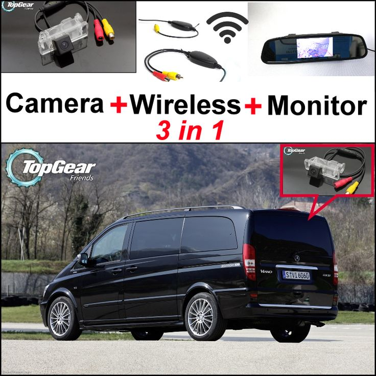 For Mercedes Benz Vito / V Class 3 in 1 Special WiFi Camera + Wireless Receiver + Mirror Screen Rear View BackUp Parking System #Affiliate