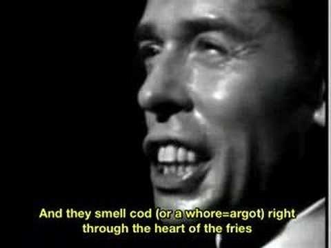 "Jacques Brel ""Dans Le Port d'Amsterdam""-- Get chills every time!"