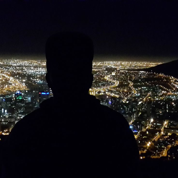 Cape Town City lights at night