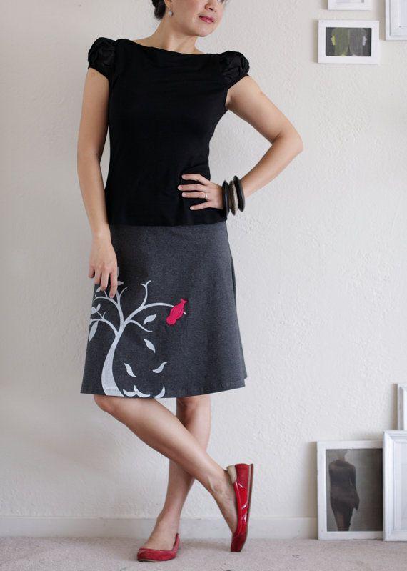 A-line applique skirt.