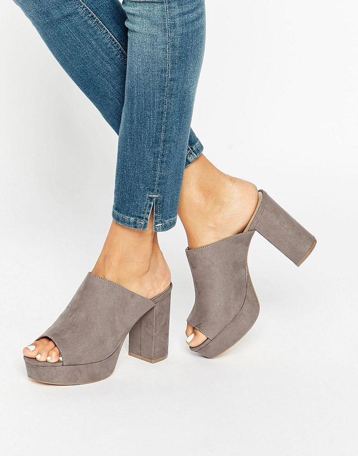 Image 1 of New Look Suedette Platform Mule $38