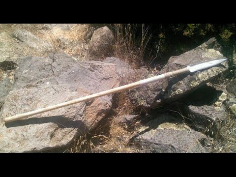 How to Make a Spear from a Leaf Spring - YouTube