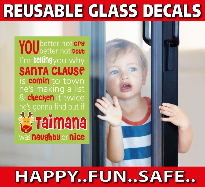 smartwalling, REUSABLE Window decals - Personalised Christmas Scroll Window Decal - Totally Reusable, $9.95 (http://www.wholesaleprinters.com.au/personalised-christmas-scroll-window-decal-totally-reusable)