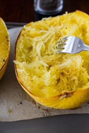 ... Avocado Spaghetti Squash Pasta + How To Roast Spaghetti Squash