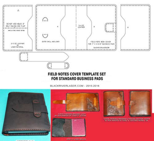 SPIRAL-BOUND-BUSINESS-PAD-COVER-TEMPLATE-SET-FOR-LEATHER-CRAFTERS-NEW-2016