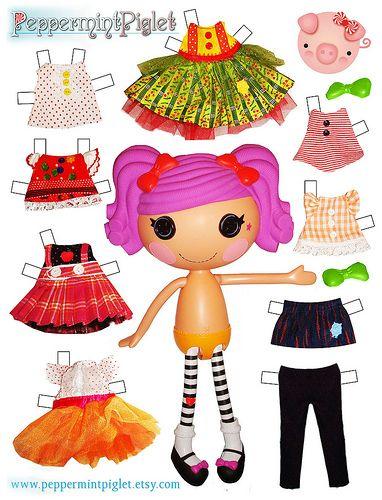 Lalaloopsy Paper Dolls // muñecas de papel para vestir