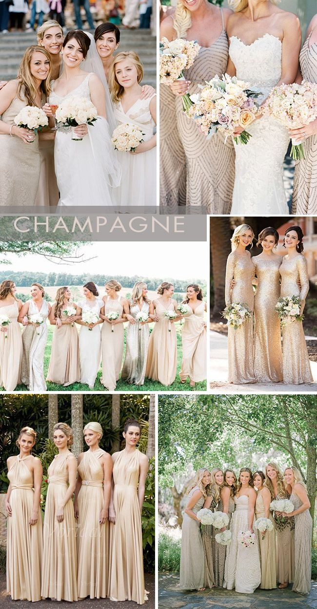 Color Champagne Gold Bridesmaid Dress