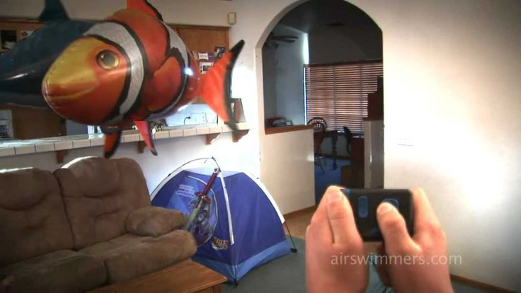 Air Swimmers - Awesome RC Flying Shark and Clownfish! - Just when you thought it was safe to get out of the water ... Incredible remote controlled flying fish emerge from the world of awesome!