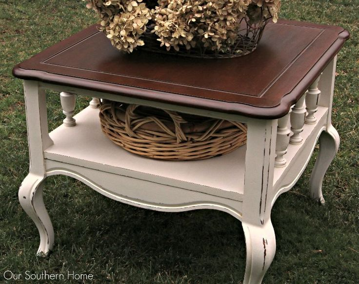 French Country End Table Makeover Part 46