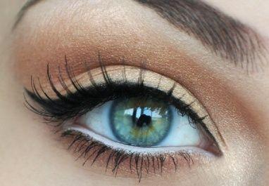 Under eye white liner.