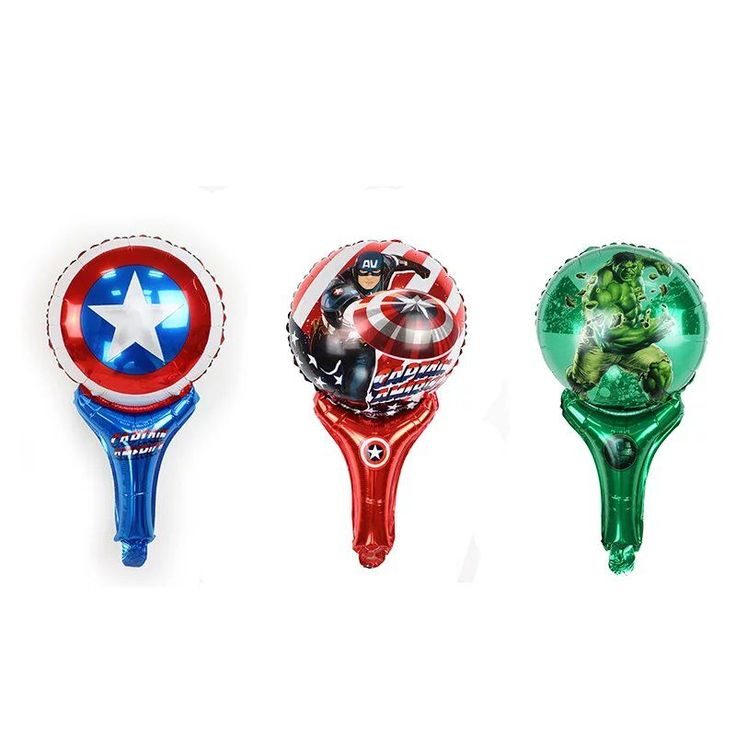 BINGTIAN Marvel super hero Captain America Superman hero birthday party children's toys balloon, hands Beater Stick foil balloon