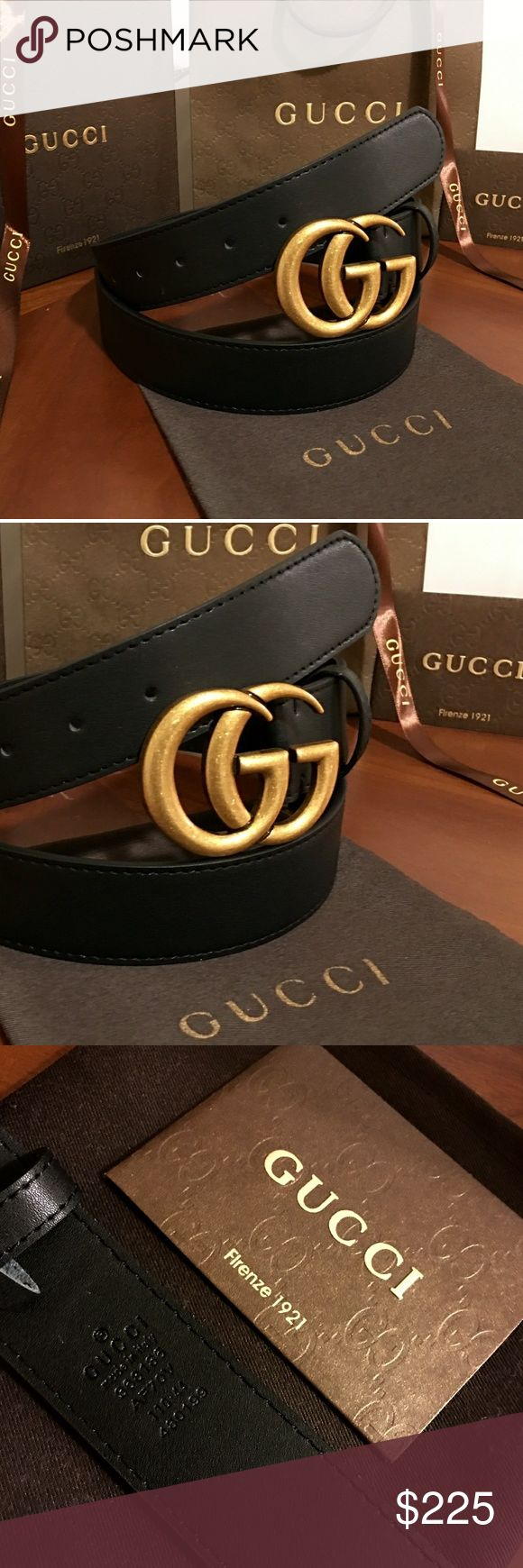 """Gucci Double G Belt!!! Gucci GG Belt W/Antique Brass Double G Buckle!!!  Brand New!!!  Unisex....For Man Or Woman!!!  Size Available - 30"""", 32"""", 34"""", 36"""", 38"""", 40"""", 42""""!!!  Includes Gucci Belt, Gift Box, Dust Bag, Ribbon, Etc!!!  Great Gift Idea!!!  Last Available!!!  Check My Listings For Other Great Items!!!               Ignore: Gucci gg monogram casual dress belts men's women's guccissma leather gold silver web tiger bee embossed panther cable knit blooms supreme print angry cat ufo…"""