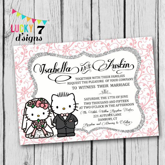 Gorgeous Hello Kitty and Dear Daniel Wedding Invitation! I LOVE this!